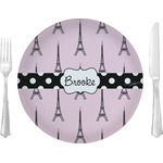 Eiffel Tower Glass Lunch / Dinner Plates 10