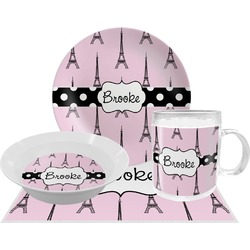 Eiffel Tower Dinner Set - 4 Pc (Personalized)