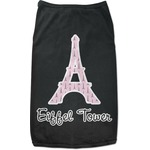 Eiffel Tower Black Pet Shirt (Personalized)