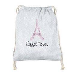 Eiffel Tower Drawstring Backpack - Sweatshirt Fleece (Personalized)