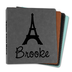 """Eiffel Tower Leather Binder - 1"""" (Personalized)"""