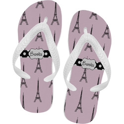Eiffel Tower Flip Flops (Personalized)