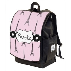 Eiffel Tower Backpack w/ Front Flap  (Personalized)
