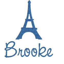 Eiffel Tower Glitter Sticker Decal - Custom Sized (Personalized)