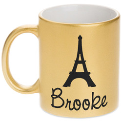 Eiffel Tower Gold Mug (Personalized)