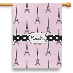 """Eiffel Tower 28"""" House Flag - Double Sided (Personalized)"""