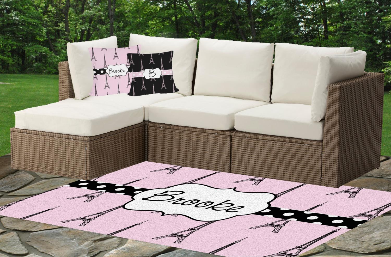 Eiffel Tower Outdoor Mat Cushions