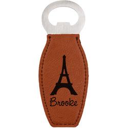 Eiffel Tower Leatherette Bottle Opener (Personalized)