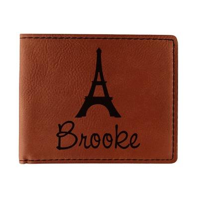 Eiffel Tower Leatherette Bifold Wallet (Personalized)