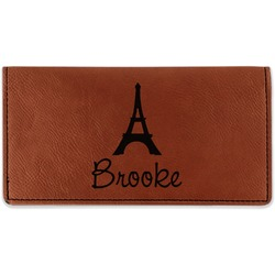 Eiffel Tower Leatherette Checkbook Holder (Personalized)