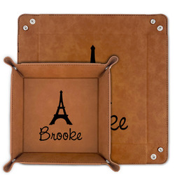Eiffel Tower Faux Leather Valet Tray (Personalized)