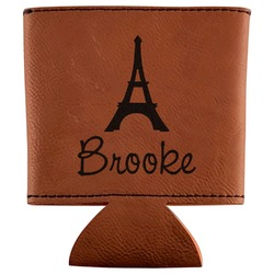 Eiffel Tower Leatherette Can Sleeve (Personalized)