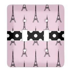 Eiffel Tower Light Switch Cover (2 Toggle Plate) (Personalized)
