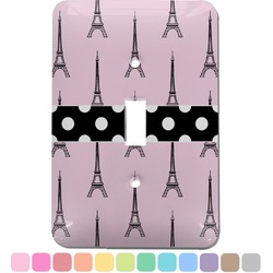 Eiffel Tower Light Switch Cover (Single Toggle) (Personalized)