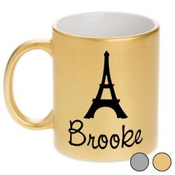 Eiffel Tower Metallic Mug (Personalized)