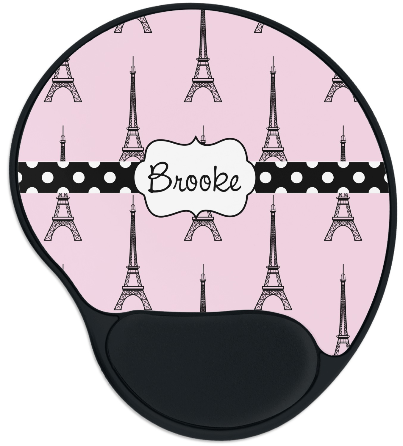 Eiffel Tower Mouse Pad With Wrist Support