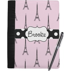 Eiffel Tower Notebook Padfolio (Personalized)