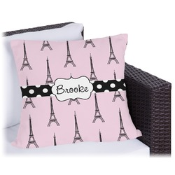 Eiffel Tower Outdoor Pillow (Personalized)