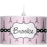 Eiffel Tower Drum Pendant Lamp (Personalized)