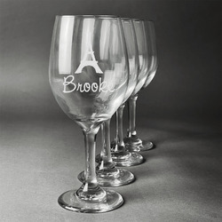 Eiffel Tower Wineglasses (Set of 4) (Personalized)