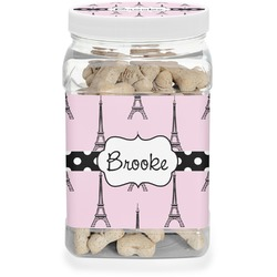 Eiffel Tower Dog Treat Jar (Personalized)
