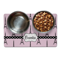 Eiffel Tower Pet Bowl Mat (Personalized)
