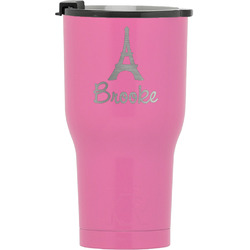 Eiffel Tower RTIC Tumbler - Pink (Personalized)