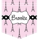 Eiffel Tower Iron On Faux Pocket (Personalized)