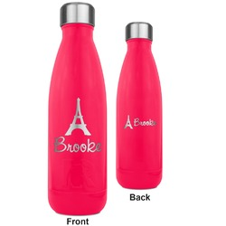 Eiffel Tower RTIC Bottle - 17 oz. Pink - Engraved Front & Back (Personalized)