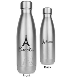 Eiffel Tower RTIC Bottle - Silver - Engraved Front & Back (Personalized)