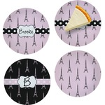 Eiffel Tower Set of Appetizer / Dessert Plates (Personalized)