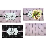 Eiffel Tower Set of 4 Rectangular Dinner Plates (Personalized)