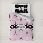 Eiffel Tower Toddler Bedding w/ Name or Text