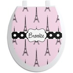 Eiffel Tower Toilet Seat Decal - Round (Personalized)