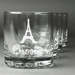 Eiffel Tower Whiskey Glasses (Set of 4) (Personalized)