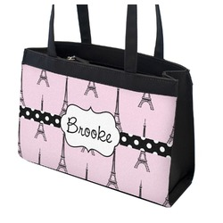 Eiffel Tower Zippered Everyday Tote (Personalized)