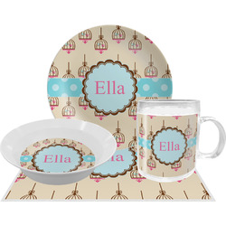 Kissing Birds Dinner Set - 4 Pc (Personalized)