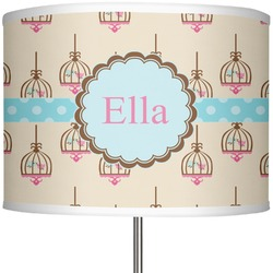 """Kissing Birds 13"""" Drum Lamp Shade (Personalized)"""