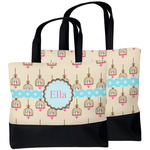 Kissing Birds Beach Tote Bag (Personalized)