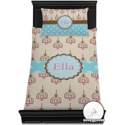 Kissing Birds Duvet Cover Set - Twin (Personalized)