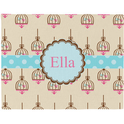 Kissing Birds Placemat (Fabric) (Personalized)