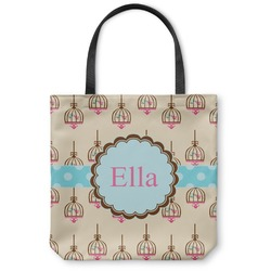 Kissing Birds Canvas Tote Bag (Personalized)