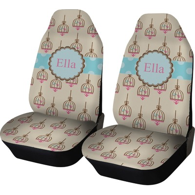 Kissing Birds Car Seat Covers (Set of Two) (Personalized)