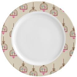 Kissing Birds Ceramic Dinner Plates (Set of 4) (Personalized)