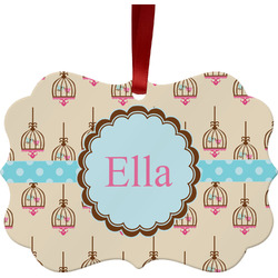 Kissing Birds Ornament (Personalized)