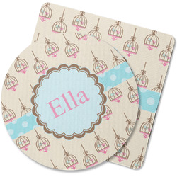 Kissing Birds Rubber Backed Coaster (Personalized)