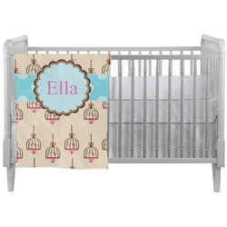 Kissing Birds Crib Comforter / Quilt (Personalized)