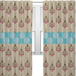 Kissing Birds Curtains (2 Panels Per Set) (Personalized)