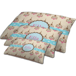 Kissing Birds Dog Bed w/ Name or Text