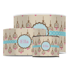 Kissing Birds Drum Lamp Shade (Personalized)